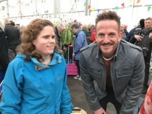 Harriet with Gardener's World presenter Nick Bailey