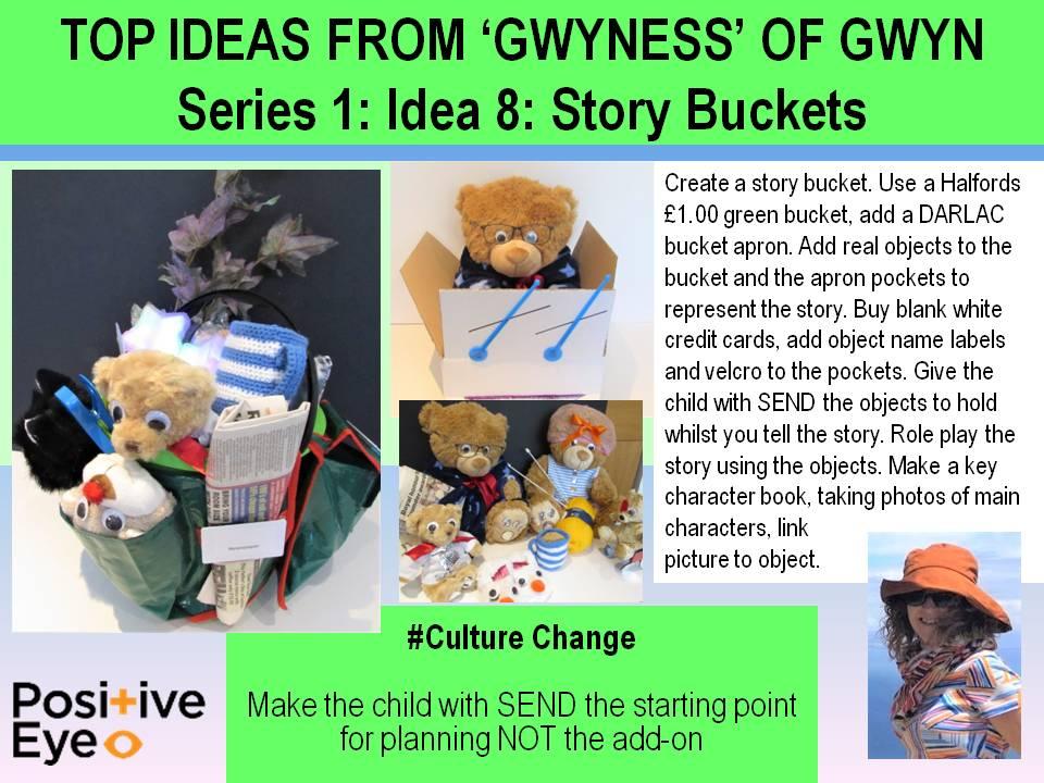 Positive Eye idea 8 story buckets