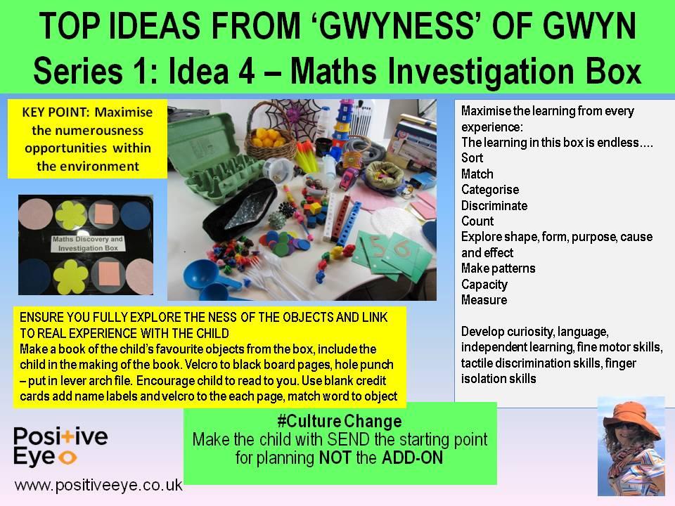 Positive Eye Idea 4 Maths Investigation Box