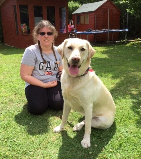 emma and guide dog